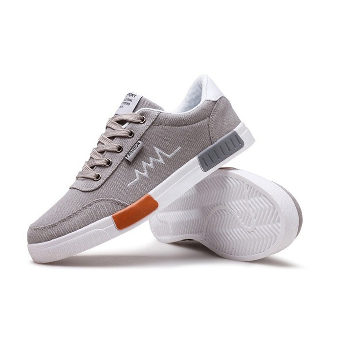 Hot sales New Spring Summer Canvas Shoes Men Sneakers Male Brand Fashion Sneakers slippers gray 39