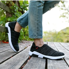 New couple shoes womens mens casual leisure travel running shoes wear-resistant breathable sneakers black 35
