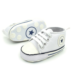 2019 Newborn Baby Boys Girls First Walkers Shoes Infant Toddler Soft Sole Anti-slip Baby Shoes white 11CM(0-6Months)