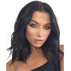 The new 2019 wigs will be available for women with short  medium or long curly hair black as picture