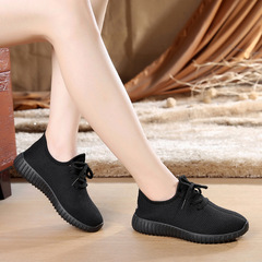 Sales promotion Athletic  women students shoes fall casual non-slip soft soles light running shoes black 35
