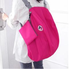 Travel backpack handbags storage bag crossbody bag ultra light large size clothing bag women bags red 51*26*27CM