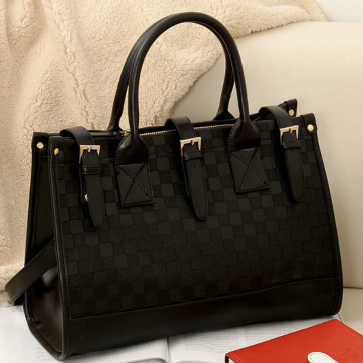 Europe and America new female bag shoulder bag handbag big bag black huge  capacity black one 7107a3ef1501a