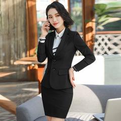 Business Interview Women Suits Formal Office Uniform Office Ladies Blazer Skirt Pants 2 3pieces Set black(1pc-suit) s