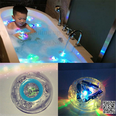 Bathroom underwater Led Pool Light Waterproof Bath Tub Kids Toy Funny Shower Flashing Floating one Color one size