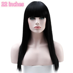 Long Hair Wigs Synthetic Wigs For Women Heat Resistant False Hair Pieces Women Hairstyles black 22 inches