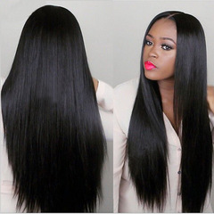 Big waves hair wig lady fashion Women Natural Synthetic Wigs Non Lace black 24 inches