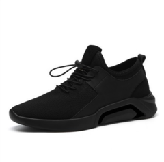 New men's shoes spring popular with casual canvas shoes and men's sports shoes black / white 39-44 Black 39