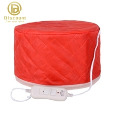 Professional Beauty Steamer SPA Hair Care Heating Cap Red Free Size RED one size red one size