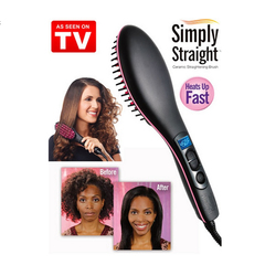 Straight Hair Straightener Comb Digital Electric Straightening Hair Dryer Brush as per picyure shouw 25*7*4cm