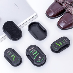 Multifunctional Double-Faced Shoe Polish Colorless Light Shoes Rub Leather Care Oil Sponge Shoe as per pictureshow big 11*7cm