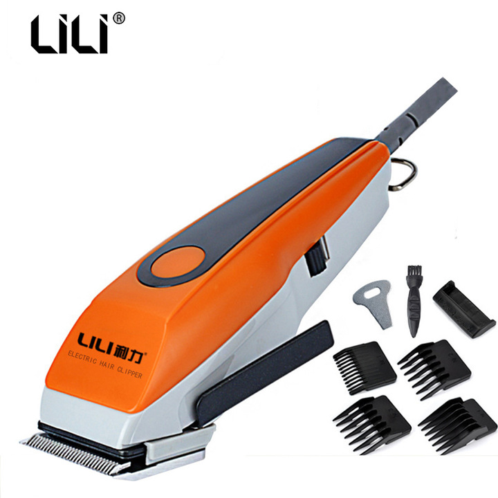 220V Corded Hair Clipper hair trimmer Electric Shaving Hair Cutting Machine For Salon/Home yellow one size
