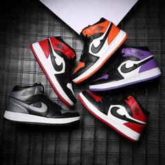 Waroom Nike, Air Jordan 1 mid Gym,High-top sneakers, Basketball shoes, Sneakers, BLACK 39