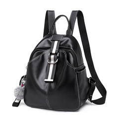 New Arrival WomensLeather Bag  Womens Leather  Handbag Lady Fashion Handbag Girls Bag Backpack black onesize 26*13*30CM