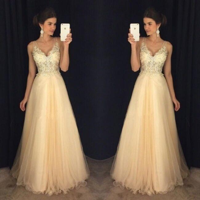 2018 new sexy fashion deep V open back evening dress chiffon sequin dress  dress S yellow c3074064a
