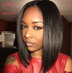 Wigs Ladies Wigheat Hair Straight Middle/Short  Black Wigs for Women Pixie Cut Party Hair With cap Wig Cap Only One Size