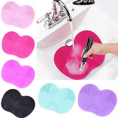 Silicone Cleaner Cosmetic Make Up Washing Brush Cleaning Mat Foundation Makeup Brush Cleaner Pad yellow