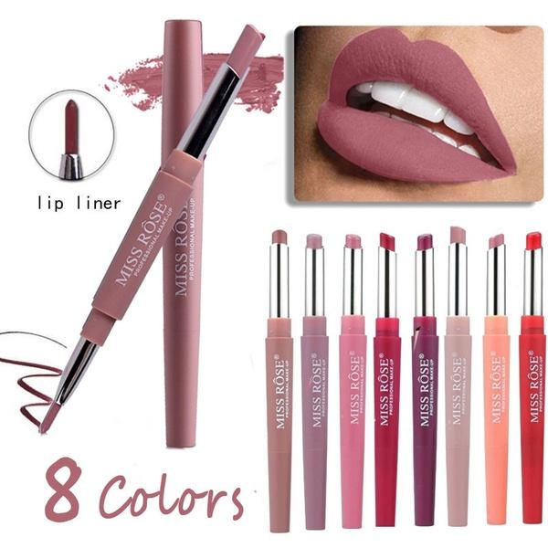 Lips Makeup Matte Lipstick Set Long Lasting Waterproof Pigment Lipstick Pencils Moisturizer Lips #06