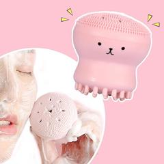 Face Skin Care Cleaning Tools Octopus Jellyfish Facial Cleansing Brush Facial Puff Massage Pink