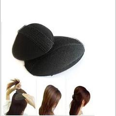 2pcs easy hair Braider The Princess Styling Hair Fluffy Sponge Pad Increased hair styling bun Black Big + Small