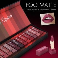 1 Set 12 Colors Women Matte Lip Pencil Lipstick Lip Gloss Waterproof Lasting Makeup show as picture