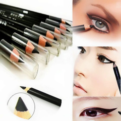 2pcs/lot Eyeliner Pen Eyeliner Pencil Long-lasting Black Eye Liner Makeup Pen Pencil Cosmetic Tool black