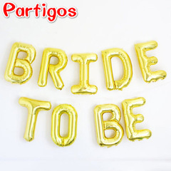 10pcs/set Bride to be Letter Foil Balloon Wedding Decoration Baby Shower Party Decor Supplies rose gold bride to be 16inch