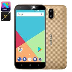 Ulefone S7 - 8GB - 1GB RAM (8MP+5 MP) Dual Camera - Dual Sim - 4G Golden