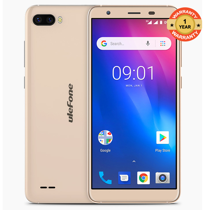"Ulefone S1 - 5.5"" - 8GB - 1GB RAM - (8MP+5MP) Dual Camera, 4G (Dual SIM) gold"