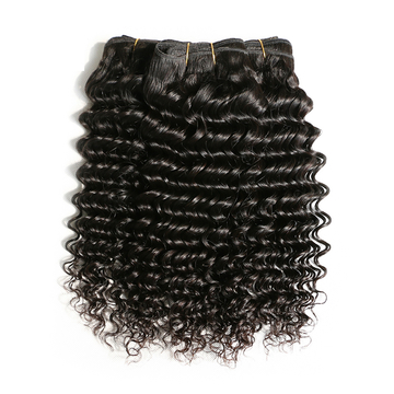 AOOTUS 100% Human Hair Brazilian Deep Wave Virgin Human Hair 1pcs/100g black 14