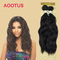 AOOTUS Synthetic Hair Extensions Natural wave 18 Inch  2# Black