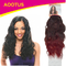 AOOTUS Synthetic Hair Extensions: Indian wave, 14 Inch 2# Wine Red