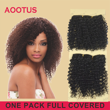 AOOTUS Regina Synthetic Hair Extensions 10 Inch Natural Black