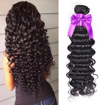 AOOTUS 12 Inch 100% Human Hair Brazilian Deep Wave Virgin Human Hair 1pcs/100g   QN005-12