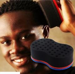 Damai Wave Barber Hair Brush Sponge For Dreads Afro Locs Twist Curl Coil Barbershop blue as picture