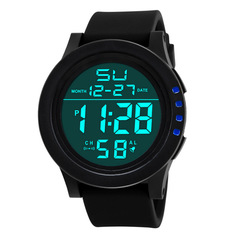 Men Women's Watches Fashion Sports waterproof outdoor LED Watches black as picture