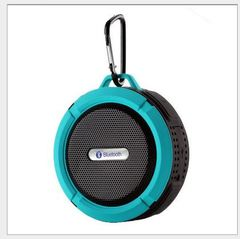 Bluetooth speaker system aluminum alloy card mini speaker wireless Bluetooth subwoofer Sound Bar blue 5w