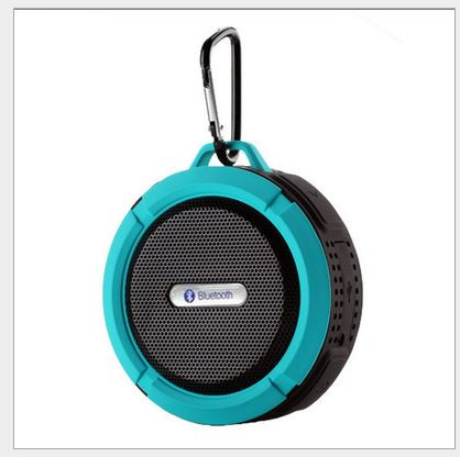 Bluetooth speaker system aluminum alloy card mini speaker wireless Bluetooth subwoofer Sound Bar blue 5w