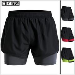 Men Clothes Men's Elastic Quick drying Sports Short Pants Brand SIGETU color#02 3xl