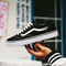 Men Classic All-match Leisure Board Shoes Spring and Autumn Fashion Breathable Outdoor Shoes White black 44