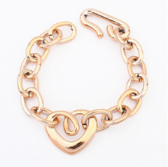 Simple Heart Shape Women's Bracelet