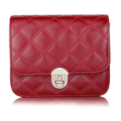 Women fashion PU leather sling bag red