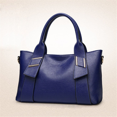 High Quality Women Shoulder Bags PU Leather Bag Blue