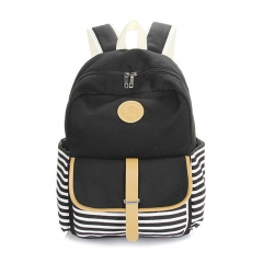 Zebra Stripes Girl School Casual Backpack As the Picture One Size
