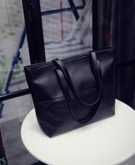 Patchwork Casual Duffle Handbags Shoulder Bags Black One Size