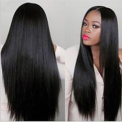 Long Black Straight Heat Resistant Wig Hairpiece Cosplay Women's Hair Full Wigs black 70CM