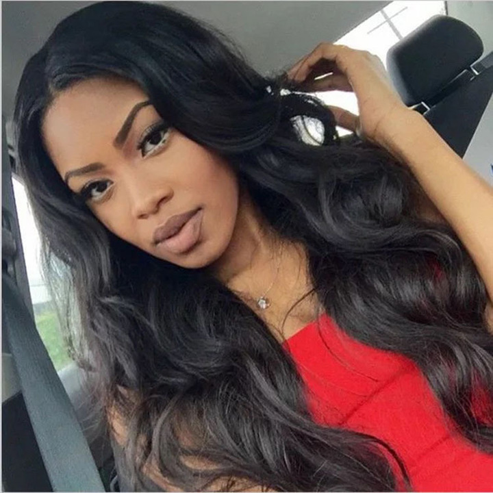 Long Wave Wigs For Black Women Long Curly Black Wigs Natural  Synthetic Women Wigs Dark brown 28inch
