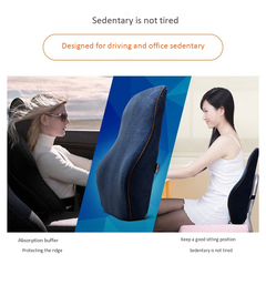 Office/Drive Lumbar waist back slow rebound chair memory cotton waist pad lumbar Blue ONE SIZE
