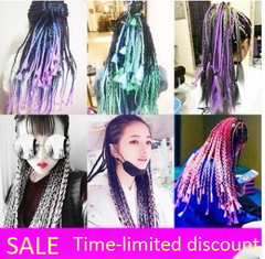 Dreadlocks hair extension wigs There-color gradient Multicolor big dreadlocks braids 1 60cm