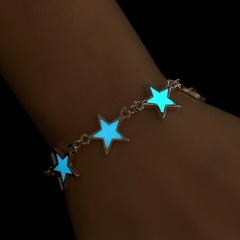 Fluorescent Luminous Bracelets  Star accessories Glow In The Dark bracelets for women Gift as picture one size